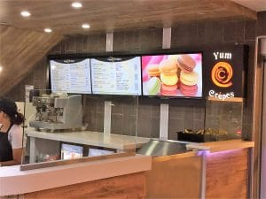 custom digital menu board