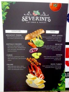 custom menu board sign