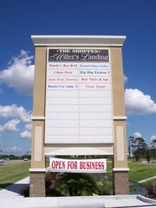 Custom large pylon tenant signs