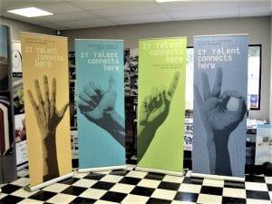 Indoor custom retractable banners
