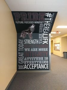 custom school wall mural